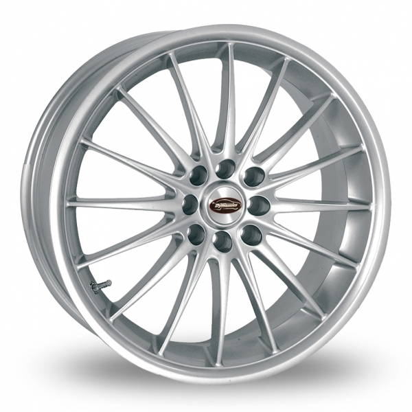 "15"" Team Dynamics Jet Silver Alloy Wheels"