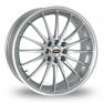 17 Inch Team Dynamics Jet Silver Alloy Wheels