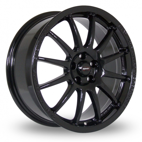 "15"" Team Dynamics Pro Race 1.2 Gloss Black Alloy Wheels"