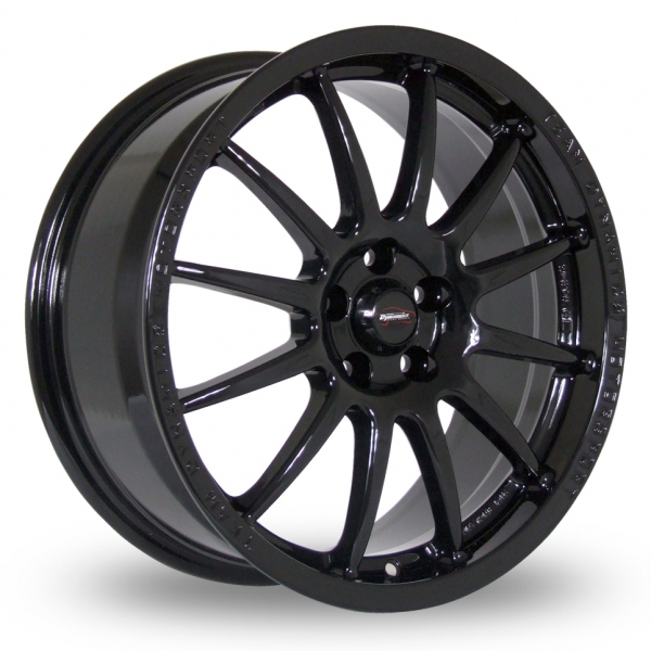 "16"" Team Dynamics Pro Race 1.2 Gloss Black Alloy Wheels"