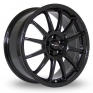 16 Inch Team Dynamics Pro Race 1 2 Black Alloy Wheels