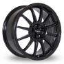 18 Inch Team Dynamics Pro Race 1 2 Black Alloy Wheels