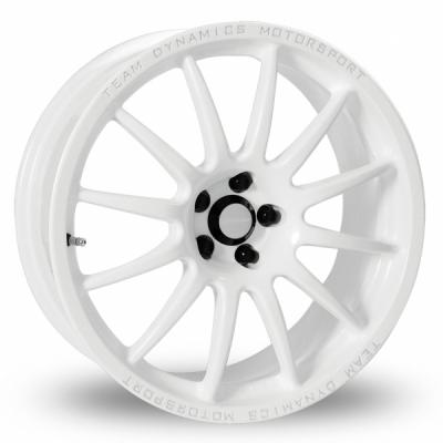 17 Inch Team Dynamics Pro Race 1 2 White Alloy Wheels