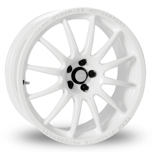 17 Inch Team Dynamics Pro Race 1 2 White Alloy Wheels