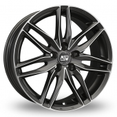 MSW (by OZ) 24 Gun Metal Polished Alloy Wheels