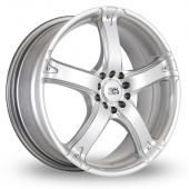 BK Racing 333 Silver Alloy Wheels