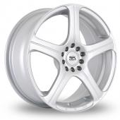 BK Racing 166 Silver Alloy Wheels