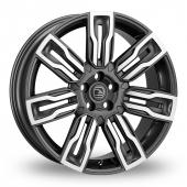 Hawke Hermes Gun Metal Polished Alloy Wheels
