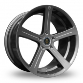 Cades Apollo Gun Metal Polished Alloy Wheels