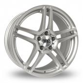 DRC DMG 5x112 Wider Rear Silver Alloy Wheels