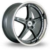 BK Racing 993 Gun Metal Alloy Wheels