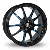 Calibre Friction Black Blue Alloy Wheels