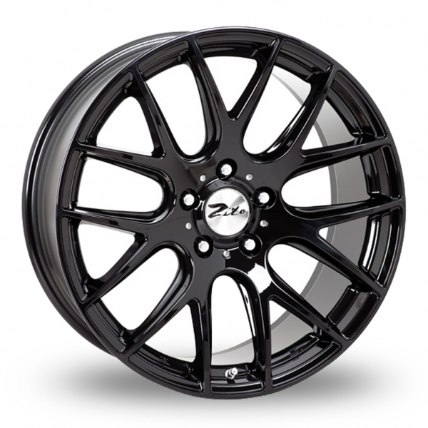 "Picture of 20"" Zito 935 Gloss Black Wider Rear"