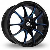 Konig Illusion Black Blue Alloy Wheels