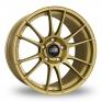 8.5x19 (Front) 10x19, 11x19 or 12x19 (Rear) OZ Racing Ultraleggera HLT Wider Rear Gold Alloy Wheels