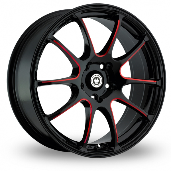 "Picture of 17"" Konig Illusion Black/Red"