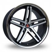 Axe EX11 Black Polished Alloy Wheels
