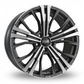 OZ Racing Cortina Graphite Polished Alloy Wheels