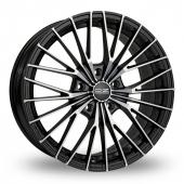 OZ Racing Ego Black Polished Alloy Wheels