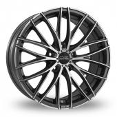 OZ Racing Italia 150 5 Stud Graphite Polished Alloy Wheels