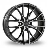 OZ Racing Italia 150 4 Stud Graphite Polished Alloy Wheels