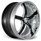 COR Wheels Concord Signature Series Silver Black Alloy Wheels