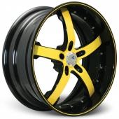 COR Wheels Concord Signature Series Black Yellow Alloy Wheels