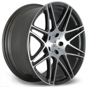 COR Wheels F1 Medaya Competiton Series Black Polished Alloy Wheels