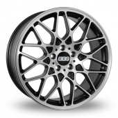 BBS RX-R 5x112 Wider Rear Black Polished Alloy Wheels