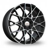 Speedline Cesare Black Polished Alloy Wheels