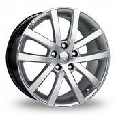 Riva AVS Hyper Silver Alloy Wheels