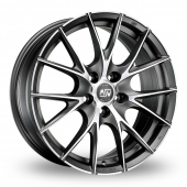 MSW (by OZ) 25 Matt Titanium Polished Alloy Wheels