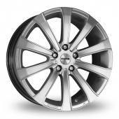 Momo Europe Wider Rear Hyper Silver Alloy Wheels