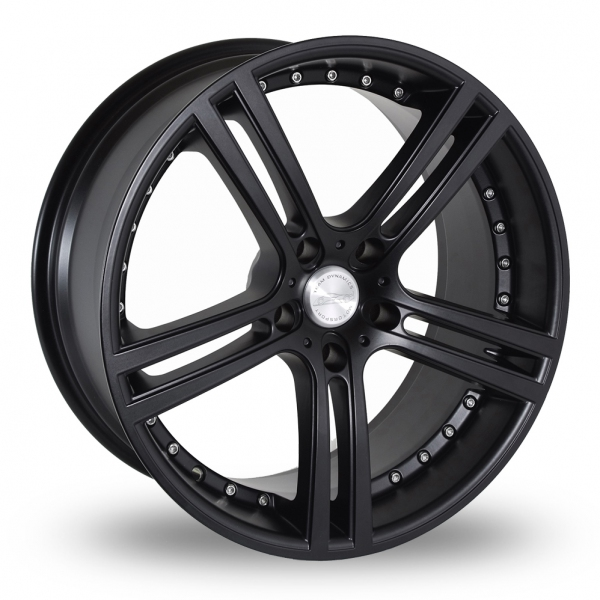 "Picture of 17"" Team Dynamics Le Mans Matt Black"