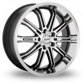 Maxxim Ferris Black Polished Alloy Wheels