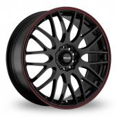 Maxxim Maze Black Red Alloy Wheels