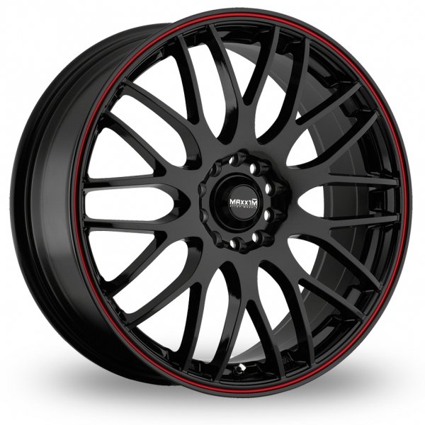 "Picture of 16"" Maxxim Maze Black/Red"
