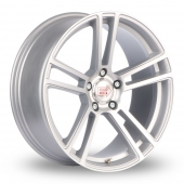 Mille Miglia MM1002 5x120 Wider Rear Silver Polished Alloy Wheels