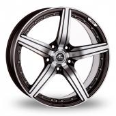 AC Wheels Ultima Black Polished Alloy Wheels