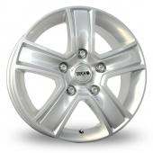 Tekno KV5 Silver Alloy Wheels