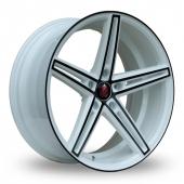Axe EX14 White Black Alloy Wheels