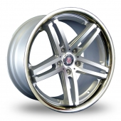Axe EX11 Silver Polished Alloy Wheels