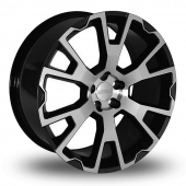 Team Dynamics Balmoral Black Polished Alloy Wheels