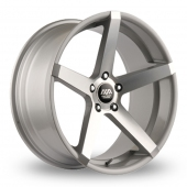 AVA Miami Hyper Silver Alloy Wheels