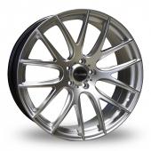Dare River NK 1 Hyper Silver Alloy Wheels