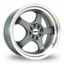17 Inch ZCW R5 Gun Metal Alloy Wheels