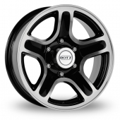 Dotz Hammada Black Polished Alloy Wheels