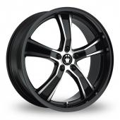 Konig Airstrike Black Polished Alloy Wheels