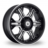 Konig Locknload Black Polished Alloy Wheels