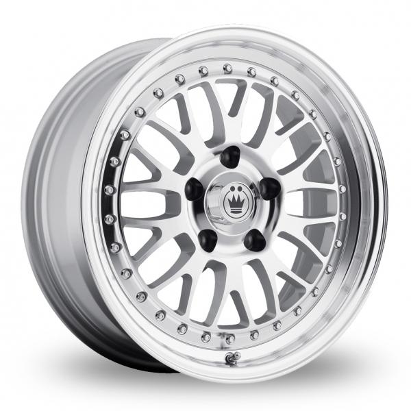 "Konig Roller Silver Polished 16"" Alloy Wheels"